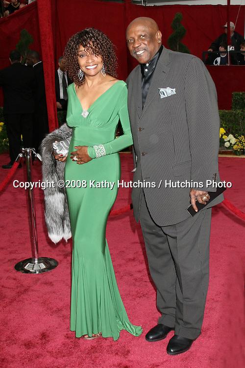 Beverly Todd & Lou Gossett Jr.80th Academy Awards ( Oscars).Kodak Theater.Los Angeles, CA.February 24, 2008.©2008 Kathy Hutchins / Hutchins Photo....