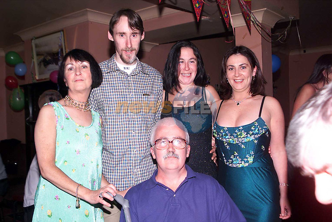 Melissa Gibney from Newfield who celebrated her 21st Birthday in McHugh's pictured with her parents, Linda and Gerard, sister Melanie and boyfriend Raymond Hughes..Picture Paul Mohan Newsfile