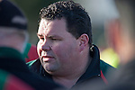 Waiuku Coach John Bell. Counties Manukau Premier Club Rugby game between Wauku & Manurewa played at Waiuku on Saturday June 6th. Manurewa won 36 - 31 after leading 14 - 12 at halftime.