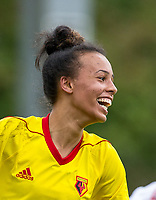 Natalie Murray of Watford Ladies during the pre season friendly match between Stevenage Ladies FC and Watford Ladies at The County Ground, Letchworth Garden City, England on 16 July 2017. Photo by Andy Rowland / PRiME Media Images.