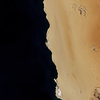The Namib Sand Sea stands at the heart of Namib-Naukluft National Park, located on the coast of Namibia.