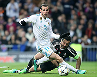 Real Madrid's Gareth Bale (l) and Juventus Football Club's Gianluigi Buffon during Champions League Quarter-Finals 2nd leg match. April 11,2018. (ALTERPHOTOS/Acero) /NortePhoto.com
