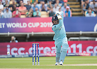 Jason Roy (England) eases the ball to the extra cover boundary for four runs during Australia vs England, ICC World Cup Semi-Final Cricket at Edgbaston Stadium on 11th July 2019