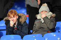 Burnley fans watch on <br /> <br /> Photographer Ashley Crowden/CameraSport<br /> <br /> The Premier League - Crystal Palace v Burnley - Saturday 13th January 2018 - Selhurst Park - London<br /> <br /> World Copyright &copy; 2018 CameraSport. All rights reserved. 43 Linden Ave. Countesthorpe. Leicester. England. LE8 5PG - Tel: +44 (0) 116 277 4147 - admin@camerasport.com - www.camerasport.com