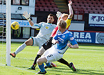Partick Thistle v St Johnstone&hellip;10.09.16..  Firhill  SPFL<br />Steven Anderson scores to put saints 1-0 up<br />Picture by Graeme Hart.<br />Copyright Perthshire Picture Agency<br />Tel: 01738 623350  Mobile: 07990 594431