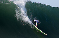 Half Moon Bay - Ca, Sunday, January 20, 2013: Mark Healey competes during the 2013 Mavericks Invitational..