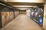 Art On Walls In Under Street Passage Way