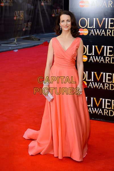 LONDON, ENGLAND - APRIL 13: Kristin Davis attends the Olivier Awards 2014 at the Royal Opera House on April 13, 2014 in London, England. <br /> CAP/CJ<br /> &copy;Chris Joseph/Capital Pictures