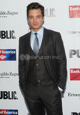 New York, NY- August 5: Sebastian Stan attends the Public Theater's Opening Night of King Lear on August 5, 2014 at the Delacorte Theater in Central Park in New York City. . Credit: John Palmer/MediaPunch