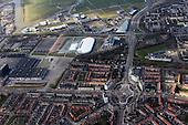 Europaplein met Westeinde, Valeriuskwartier, Vosseparkwijk, Muziekwijk, Vogelwijk, Businesspark Leeuwarden, Elfstedenhal, Crysatlic en Wetterskip Fryslan