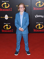 05 June 2018 - Hollywood, California - Huckleberry Milner. Disney Pixar's &quot;Incredibles 2&quot; Los Angeles Premiere held at El Capitan Theatre. <br /> CAP/ADM/BT<br /> &copy;BT/ADM/Capital Pictures