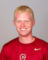 Nolan Paige,  with the Stanford Men's Tennis Team. Photo taken on Monday, September 23, 2013.