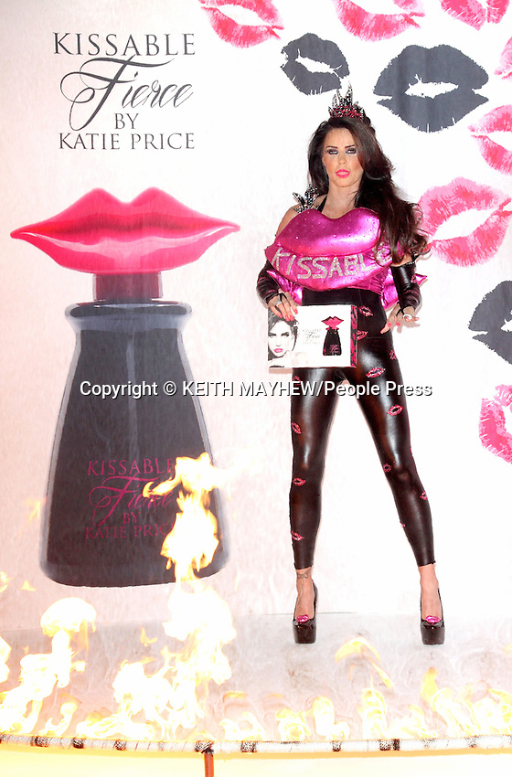 Katie Price launches her latest fragrance 'Kissable Fierce' at Worx Studio, Fulham, London on December 3rd 2014<br /> <br /> Photo by Keith Mayhew