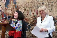 17 May 2016 - London, England - Sylvie Bermann (left), France's Ambassador to the UK, speaking with Camilla Duchess of Cornwall, during a reception to celebrate the 25th anniversary of Emmaus UK - which supports former homeless people by giving them a home within one of its Emmaus Communities - at the French Ambassador's Residence in Kensington, London. Photo Credit: ALPR/AdMedia