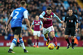 4th November 2017, Villa Park, Birmingham, England; EFL Championship football, Aston Villa versus Sheffield Wednesday; Robert Snodgrass of Aston Villa lines up to take a strike on goal