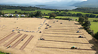 Farmers plough a field during competition in the South Kerry Ploughing Championships at Fossa Killarney at the weekend. The inaugural event in Killarney attracted around 10,000 visitors to the shores of Lough Lein and under the gaze of the McGillycuddy Reeks Mountains.<br /> Picture by Don MacMonagle