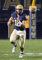 Pitt quarterback Tino Sunseri. Cincinnati Bearcats defeated the Pitt Panthers 26-23 at Heinz Field in Pittsburgh, Pennsylvania on November 5, 2011.