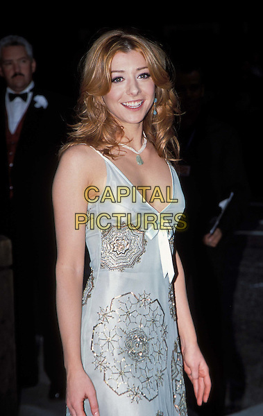 ALYSON HANNIGAN .American Wedding Film premiere at Odeon, Covent Garden and Afterparty, Cafe De Paris.www.capitalpictures.com.sales@capitalpictures.com.© Capital Pictures. ..half length, half-length