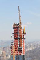 Neuer Wolkenkratzer am Central Park im Bau - 11.04.2018: Sightseeing in New York