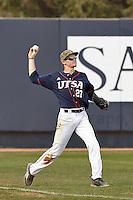 SAN ANTONIO, TX - FEBRUARY 28, 2016: The University of Texas at San Antonio Roadrunners defeat the McNeese State University Cowboys 11-5 at UTSA Roadrunner Field. (Photo by Jeff Huehn)