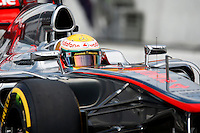 ATENCAO EDITOR IMAGEM EMBARGADA PARA VEICULO INTERNACIONAL - SAO PAULO, SP, 06 OUTUBRO DE 2012 - FORMULA 1 GP JAPAO -  O piloto britanico Lewis Hamilton da equipe McLaren durante treino classificatorio nesta sabado, 06, para o Grande Premio do Japao que acontece amanha em Suzuka no Japao. FOTO: PIXATHLON / BRAZIL PHOTO PRESS)