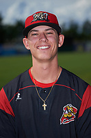 Batavia Muckdogs Shane Sawczak (21) poses for a photo before a game against the West Virginia Black Bears on June 26, 2017 at Dwyer Stadium in Batavia, New York.  Batavia defeated West Virginia 1-0 in ten innings.  (Mike Janes/Four Seam Images)