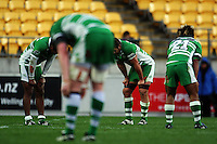 Manawatu players slump at the final whistle. Air NZ Cup - Wellington Lions v Manawatu Turbos at Westpac Stadium, Wellington, New Zealand. Saturday 3 October 2009. Photo: Dave Lintott / lintottphoto.co.nz