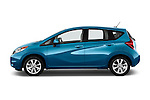 Driver side profile view of a 2014 Nissan Versa Note SV SL Hatchback 2014 Nissan Versa Note SV SL Hatchback