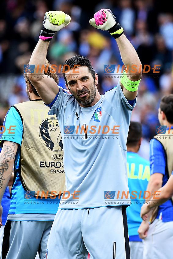 Esultanza Gianluigi Buffon Italy Celebration <br /> Toulouse 17-06-2016 Stade de Toulouse <br /> Football Euro2016 Italy - Sweden / Italia - Svezia Group Stage Group E<br /> Foto Massimo Insabato / Insidefoto