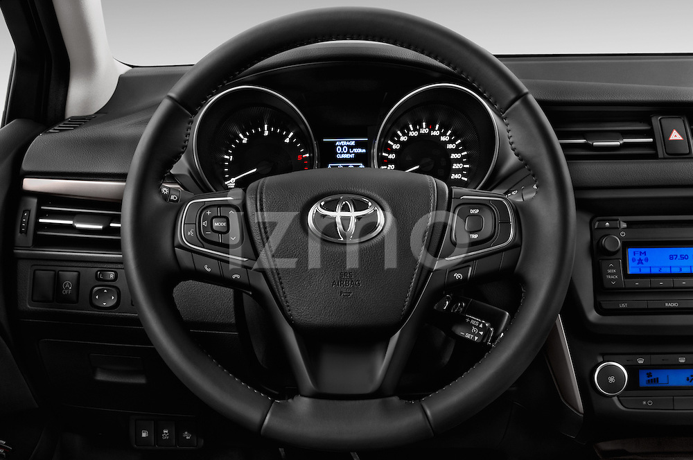 Car pictures of steering wheel view of a 2015 Toyota Avensis Active 4 Door Sedan Steering Wheel