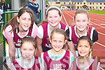 Listowel athletes at the Juvenile Athletic Championships in Castleisland on Sunday were front row l-r: Maria O'Neill, Ciara O'Donoghue, Aisling Mahony. Back row: Katie Stapleton, Vanessa Dineen and Siobhain Donnegan .   Copyright Kerry's Eye 2008