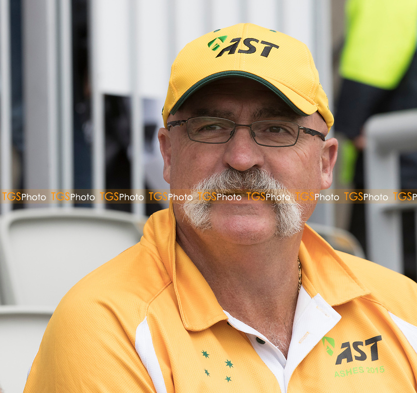 Merv Hughes during India vs New Zealand, ICC World Cup Semi-Final Cricket at Old Trafford on 9th July 2019