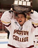 Katie Burt (BC - 33) - The Boston College Eagles defeated the Northeastern University Huskies 2-1 to win the Beanpot on Monday, February 7, 2017, at Matthews Arena in Boston, Massachusetts.