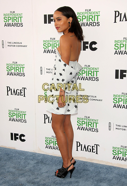 SANTA MONICA, CA - March 01: Zoe Kravitz at the 2014 Film Independent Spirit Awards Arrivals, Santa Monica Beach, Santa Monica,  March 01, 2014. Credit: Janice Ogata/MediaPunch<br /> CAP/MPI/JO<br /> &copy;JO/MPI/Capital Pictures
