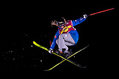 1st December 2017, Moenchengladbach, Germany;  Silvia Bertagna of Italy in action during the women's finals of the Big Air Freestyle Skiing World Cup at the SparkassenPark venue in Moenchengladbach, Germany, 1 December 2017.