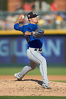 Durham Bulls starting pitcher Kyle Bird (35) in action against the Charlotte Knights at BB&T BallPark on July 4, 2018 in Charlotte, North Carolina. The Knights defeated the Bulls 4-2.  (Brian Westerholt/Four Seam Images)