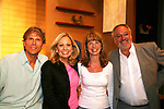 """Guiding Light actor Grant Aleksander and Jill Lorie Hurst (GL head writer) came to see Tina Sloan as she stars in Changing Shoes and Roy Steinberg (artistic director of Cape May Stage and was director/producer of GL and Another World and was on Another World as Dr. Longo. The show  - """"a one-woman show, about the beautiful, life changing and sometimes difficult discoveries we make when we least expect them. Tina Sloan, a successful actress, mother, wife and friend has a chance encounter one night with an old pair of shoes, sending her on a journey she never planned to take. Join Tina as she searches for the answers to life's ultimate questions in the bottom of her closet and finds reasons to celebrate rather than to give up as she ages. Clips of 26 years on Guiding Light and in movies she has done add to the show's humor and sadness."""" on August 17, 2009 at the Cape May Stage, Cape May, New Jersey. Tina and Joe Plummer wrote the show and Joe also is the director of the show. The Artistic Director of the Cape May Stage is Roy Steinberg (R) who was a director and producer of Guiding Light and Another World - ALSO an actor Dr. Longo on Another World. (LPhoto by Sue Coflin/Max Photos)"""
