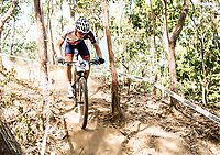 Picture by Alex Broadway/SWpix.com - 05/09/17 - Cycling - UCI 2017 Mountain Bike World Championships - XCO - Cairns, Australia - Frazer Clacherty of Great Britain in action during a practice session.