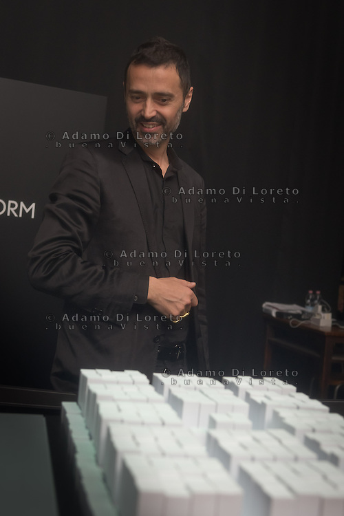Fabio Novembre during the Lexus Design Amazing 2014, on April 08, 2014. Photo: Adamo Di Loreto/BuenaVista*photo
