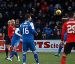 Kenny Miller scores with a looping shot into the back of the net