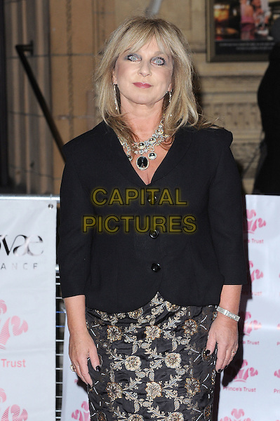 Helen Lederer .The Prince's Trust Comedy Gala, Royal Albert Hall, London, England..28th November 2012.half length blazer black  gold pattern lace skirt diamond necklace .CAP/BEL.©Tom Belcher/Capital Pictures.