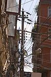 A power pole in Kathmandu Nepal