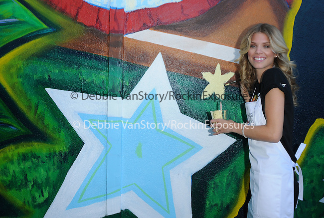 AnnaLynne McCord at the Pepsi Refresh Project Mural Painting at El Salvadore Community Center in Santa Ana, California on July 13,2010                                                                               © 2010 Debbie VanStory / Hollywood Press Agency