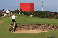 Nelly Korda (USA) in a bunker on the 4th during Round 4 of the Ricoh Women's British Open at Royal Lytham &amp; St. Annes on Sunday 5th August 2018.<br /> Picture:  Thos Caffrey / Golffile<br /> <br /> All photo usage must carry mandatory copyright credit (&copy; Golffile | Thos Caffrey)