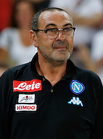 Maurizio Sarri during the friendly soccer match,between SSC Napoli and Onc Nice      at  the San  Paolo   stadium in Naples  Italy , August 01, 2016<br />  during the friendly soccer match,between SSC Napoli and Onc Nice      at  the San  Paolo   stadium in Naples  Italy , August 02, 2016