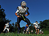 Great Neck North football players get loose during a morning practice at Great Neck North High School on Monday, Aug. 22, 2016.