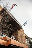 USA, Colorado, Aspen, the facade at the Sky Hotel, downtown Aspen