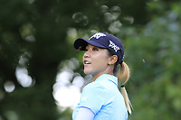 Lydia Ko (NZL) tees off the 13th tee during Thursday's Round 1 of The Evian Championship 2018, held at the Evian Resort Golf Club, Evian-les-Bains, France. 13th September 2018.<br /> Picture: Eoin Clarke | Golffile<br /> <br /> <br /> All photos usage must carry mandatory copyright credit (© Golffile | Eoin Clarke)