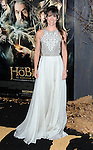 """Evangeline Lilly at the Los Angeles premiere of """"The Hobbit: The Desolation Of Smaug"""" held at the Dolby Theater December 2, 2013."""