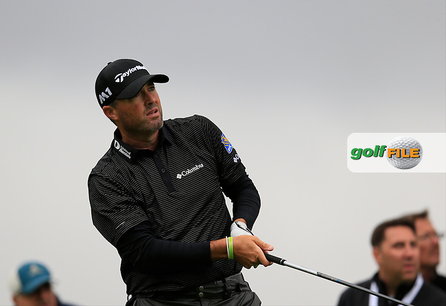 Ryan Palmer (USA) tees off the 3rd tee during Friday's Round 2 of the 2017 Genesis Open held at The Riviera Country Club, Los Angeles, California, USA. 17th February 2017.<br /> Picture: Eoin Clarke | Golffile<br /> <br /> <br /> All photos usage must carry mandatory copyright credit (&copy; Golffile | Eoin Clarke)
